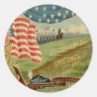 Medalla de la unión de la guerra civil de la pegatinas redondas