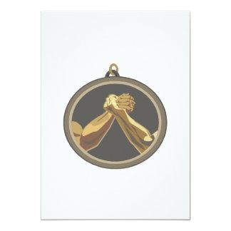 Medalla del pulso invitación 12,7 x 17,8 cm