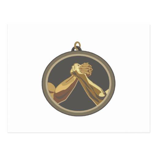 Medalla del pulso postales