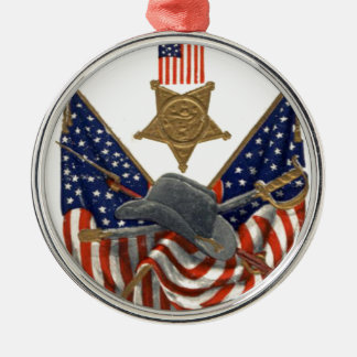 Medalla Eagle de la guerra civil de la unión de la Adorno Navideño Redondo De Metal