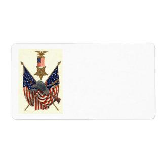 Medalla Eagle de la guerra civil de la unión de la Etiqueta De Envío