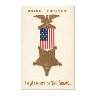 Medalla Eagle de la guerra civil de la unión de la Impresiones En Lienzo Estiradas
