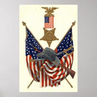 Medalla Eagle de la guerra civil de la unión de la Póster