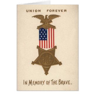 Medalla Eagle de la guerra civil de la unión de la Tarjeta De Felicitación