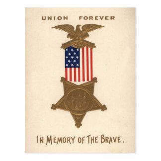 Medalla Eagle de la guerra civil de la unión de la Tarjetas Postales