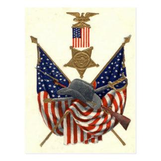 Medalla Eagle de la guerra civil de la unión de la Tarjeta Postal