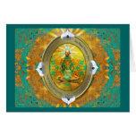 Medallón de Buda Tarjeta De Felicitación