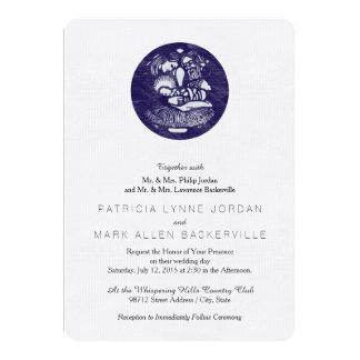 Medallón de la prensa de copiar de la natividad invitaciones personalizada
