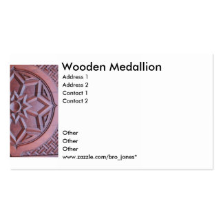 Medallón de madera plantillas de tarjeta de negocio