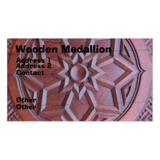 Medallón de madera tarjetas de visita