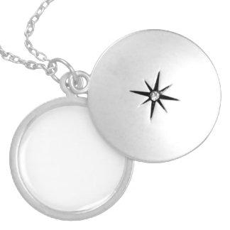 Medallón De Plata Personalizable Collar Plateado