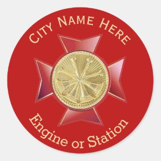 Medallón del oro del vicejefe del cuerpo de pegatina redonda