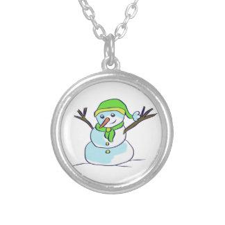 medallón muñeco de nieve