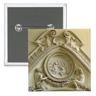 Medallón que representa el bautismo de Constantina Chapa Cuadrada 5 Cm