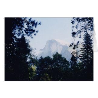 Media bóveda, parque nacional de Yosemite Tarjeta De Felicitación
