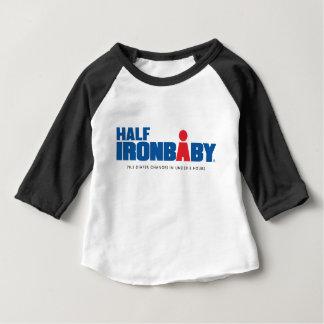 Media camiseta de la manga del bebé 3/4 del hierro