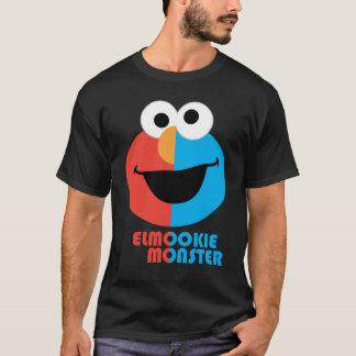 Media cara de Elmo y de la galleta Camiseta