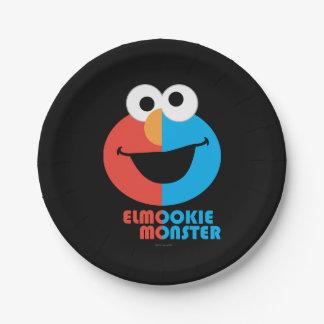 Media cara de Elmo y de la galleta Plato De Papel