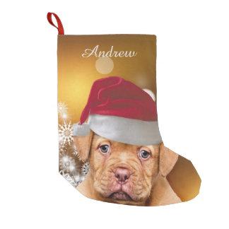 Media de Christmas Dogue de Bordeaux Dog Calcetín Navideño Pequeño