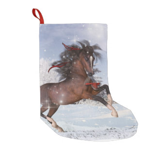 Media del caballo del día de fiesta del navidad calcetín navideño pequeño