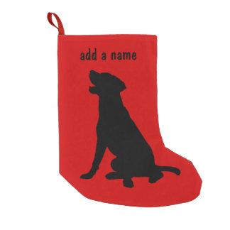Media del labrador retriever calcetín de navidad pequeño