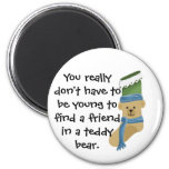 Media del oso de peluche imán para frigorífico