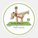 Media luna - pegatinas de la yoga