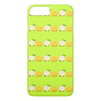Media manzana sonriente y medio naranja funda iPhone 7 plus