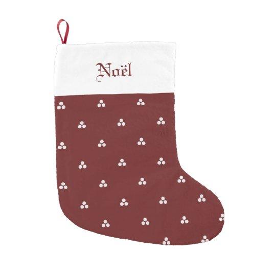 Media medieval de color rojo oscuro del punto calcetín de navidad pequeño