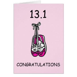 Media señora del maratón, enhorabuena tarjeta