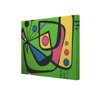 """""""Mediados de siglo 4"""" numérico abstracto moderno Impresión En Lienzo"""