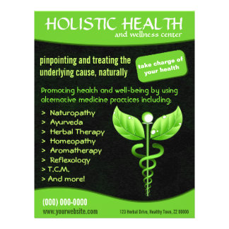 Medicina alternativa del caduceo verde médica folleto 21,6 x 28 cm