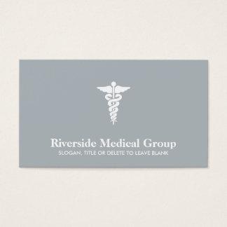 Medicina de la emergencia del símbolo y gris tarjeta de visita