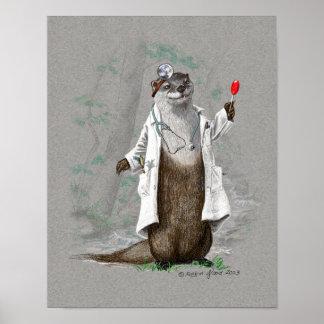 Medicina de la nutria - impresión o poster