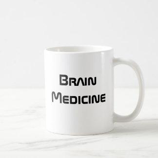 Medicina del cerebro - taza de café divertida