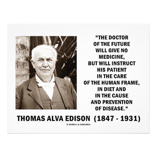 Medicina del doctor Of Future Give No de Thomas Ed Flyer Personalizado