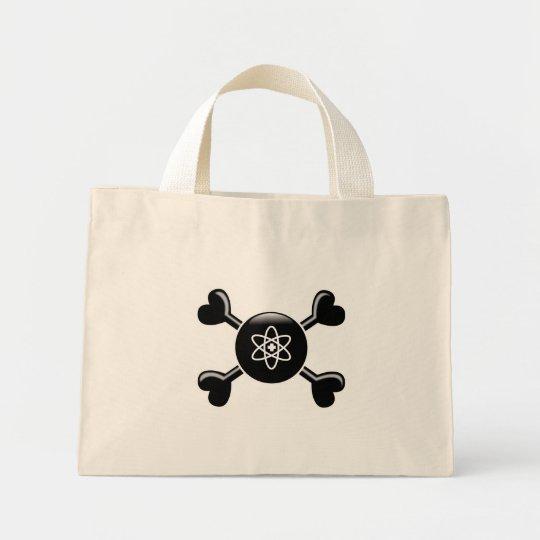 Medicina nuclear de la bandera pirata bolsa de tela pequeña