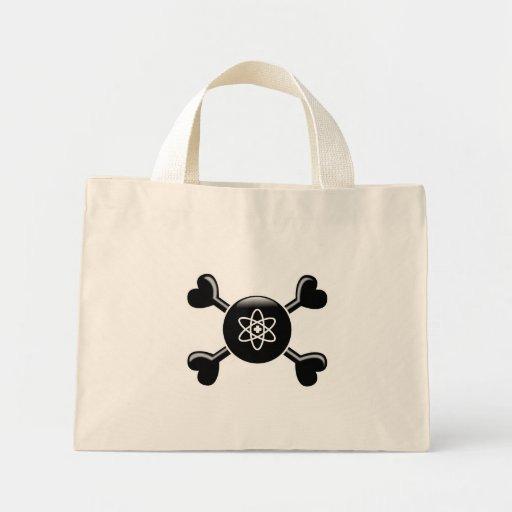 Medicina nuclear de la bandera pirata bolsa lienzo