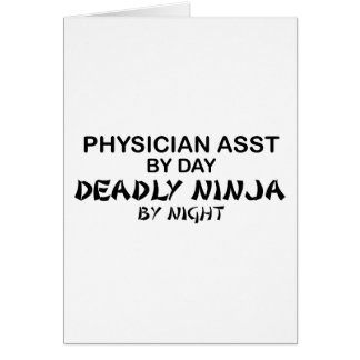 Médico Asst Ninja mortal Felicitación