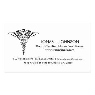 Médico blanco y negro limpio y profesional tarjetas de visita