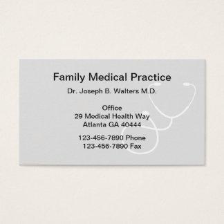 Médico de cabecera simple tarjeta de visita