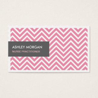 Médico de la enfermera - zigzag rosa claro de tarjeta de negocios