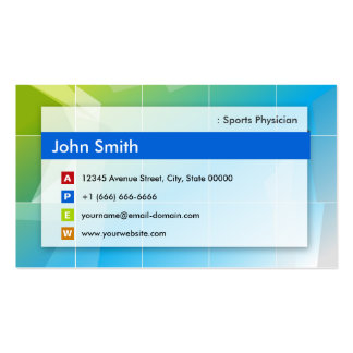 Médico de los deportes - multiusos moderno plantillas de tarjetas personales
