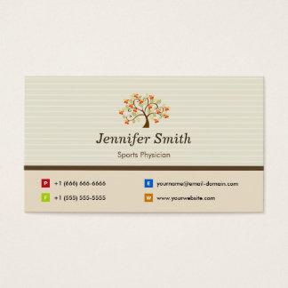 Médico de los deportes - símbolo elegante del tarjeta de negocios
