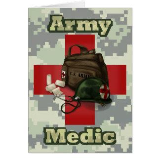 Médico del ejército tarjeta de felicitación