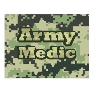 Médico del ejército tarjeta postal