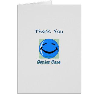 Médico gracias cuidado mayor tarjeta de felicitación