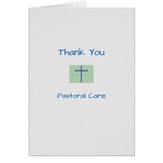 Médico gracias cuidado pastoral tarjeta de felicitación