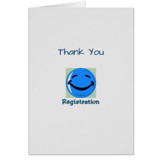 Médico gracias departamento del registro tarjeta de felicitación