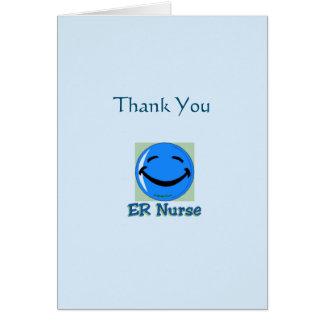 Médico gracias enfermera del ER Tarjeta